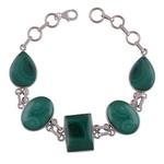 Malachite Silver Bracelet