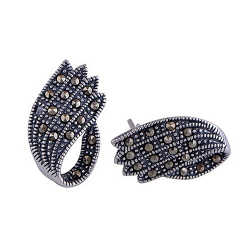 The Claw Marcasite Silver Studs