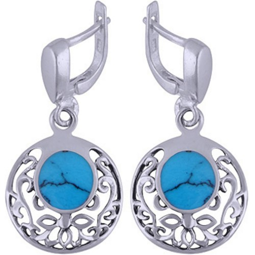 The Blue Silver Earring