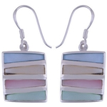 The Rainbow Shell Silver Earring