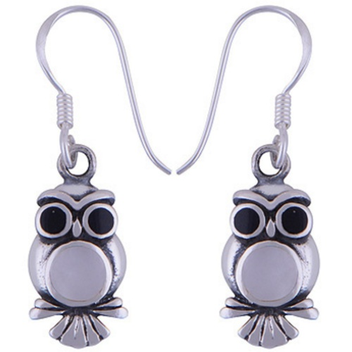 The YinYang Owl Silver Earring