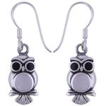 The YinYang Owl Silver Earring