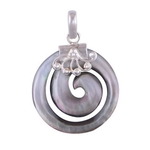 The Spiral Shell Silver Pendant