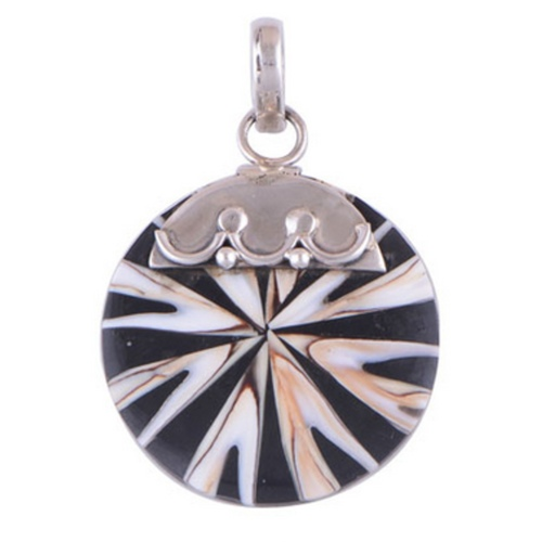 The Chakra Shell Silver Pendant