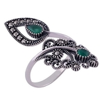 The Green Pasley Silver Ring