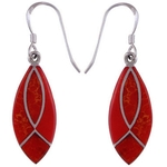 The Fire Leaf Silver Earring