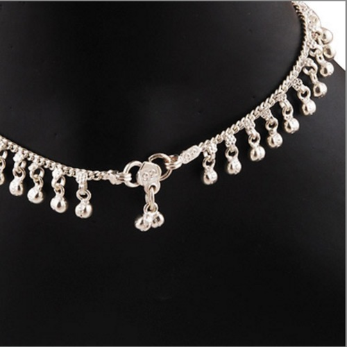 SILVER DROP ANKLET