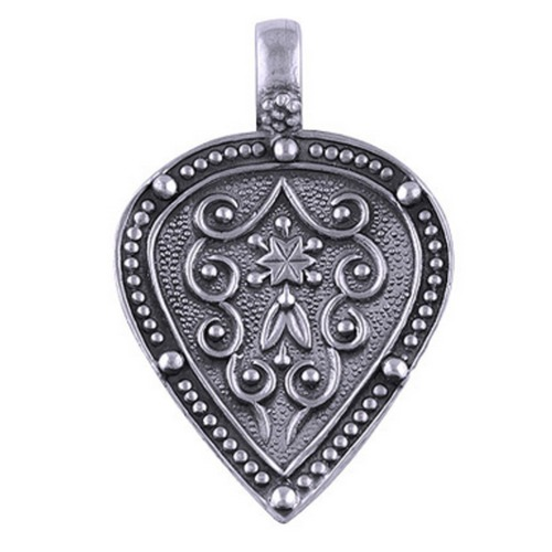 Bohemian Chic Antique Finish Silver Pendant