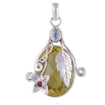 The Topaz Silver Pendant