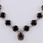The Smoky Topaz Silver Necklace