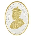 Silver Coin George King V Emperor 24 Kt Gold Plated 10 Gm 999 BIS Hallmarked