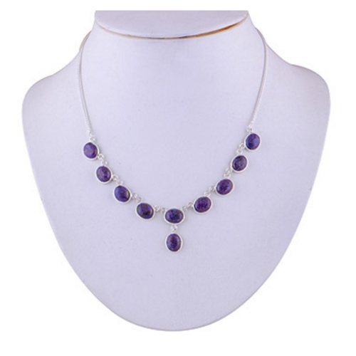 The Purple Turquoise Silver Necklace