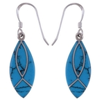The Azure Leaf Silver Earring