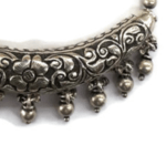 Silver Half Bangle Pendant With Chain