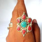 Tibetan - Turquoise & Coral