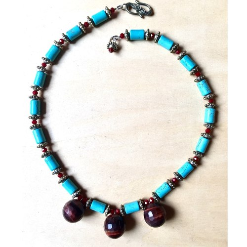 Garnet Tiger Eye & Turquoise
