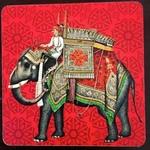 Desi Pop Elephant Coasters Set of Six