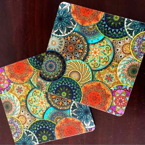 Desi Pop Mandala Coasters Set of 6