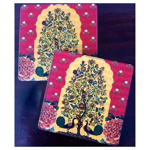 Desi Pop Tree of Life Coasters Set of Six