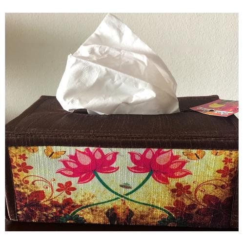 Desi Pop Lotus Tissue Box Holder