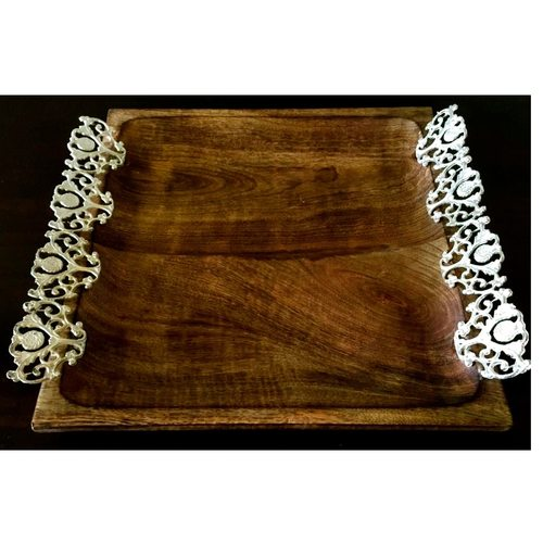 Wooden Jali Tray Small