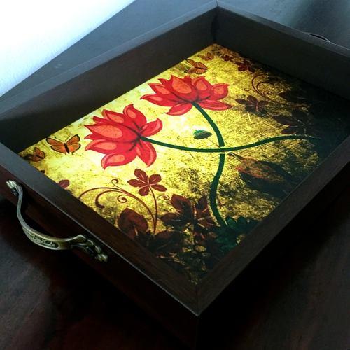 Desi Pop Lotus Tray (Big)