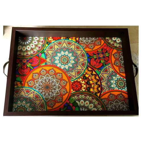 Desi Pop Mandala Tray (Big)