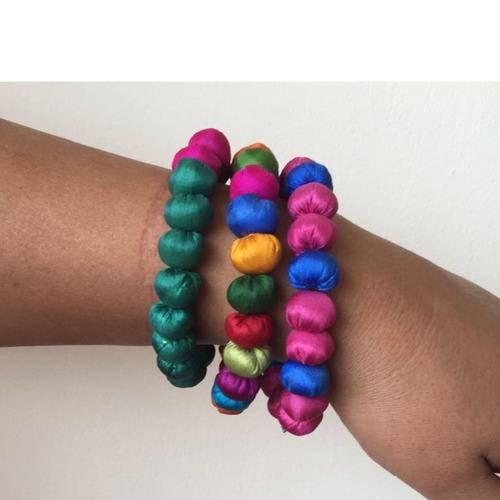 Jugaad Silk Beads Bracelets