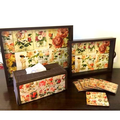 Desi Pop Roses Coasters Set of 6