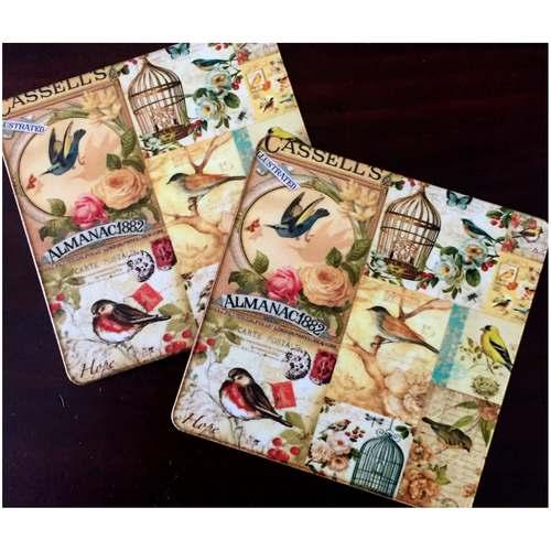 Desi Pop Birds Coasters Set of 6