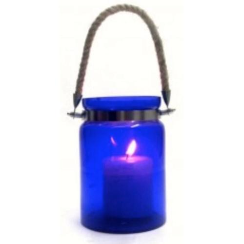 Blue Glass Rope Lantern (Big)