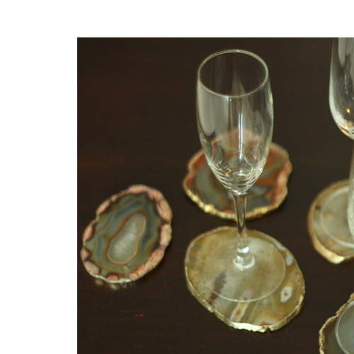 Agate Coasters Set of 4