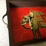 Desi Pop Elephant Tray (Big)