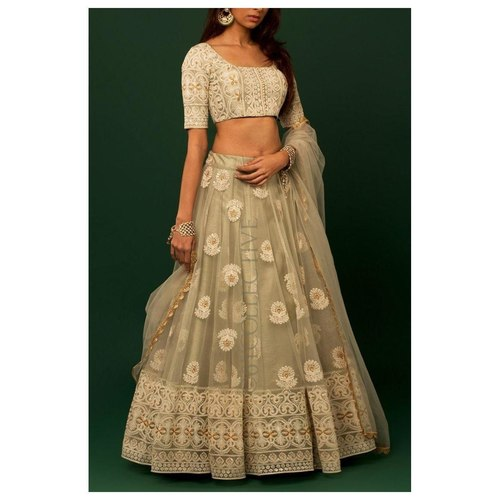 Designer Soft Net Embroidered Lehenga Choli