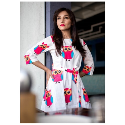 Butter Silk Printed Full Stitched Top