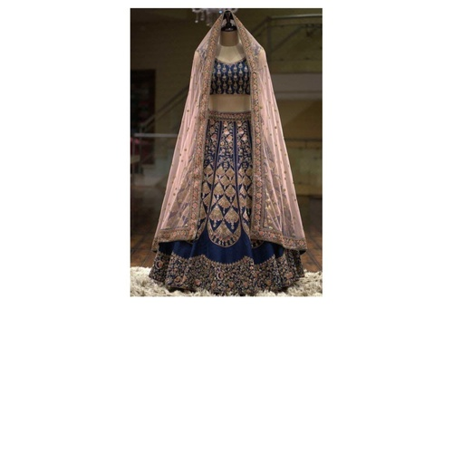 Women's Featuring Embroidered A-Line Lehenga Choli In Heavy Taffeta Silk