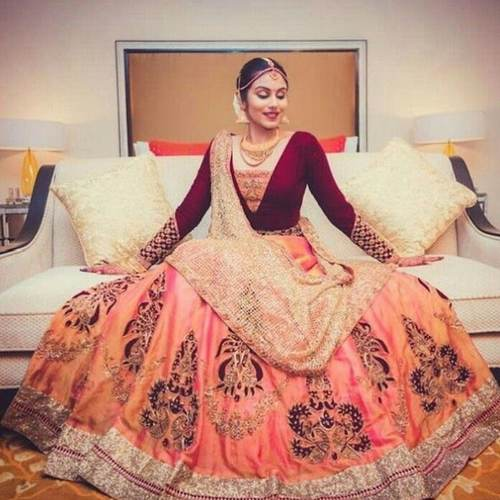 Women's Papersilk with Embroidery Lehenga with  Banglory with Embroidery Choli  Net with Embroidery Dupatta