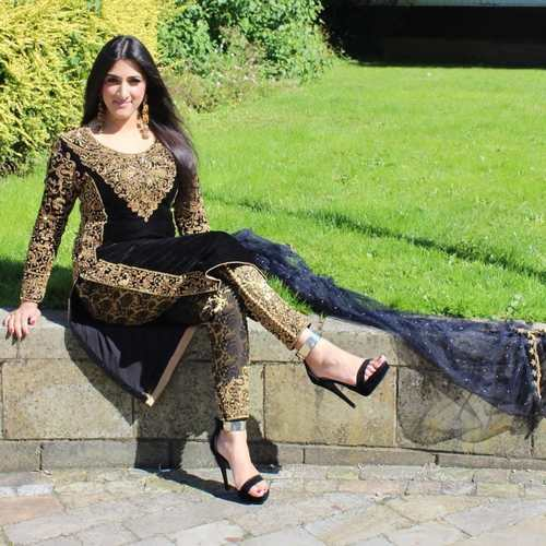 Black Color Original Stone Work, jari Work Designer Bridal Suit