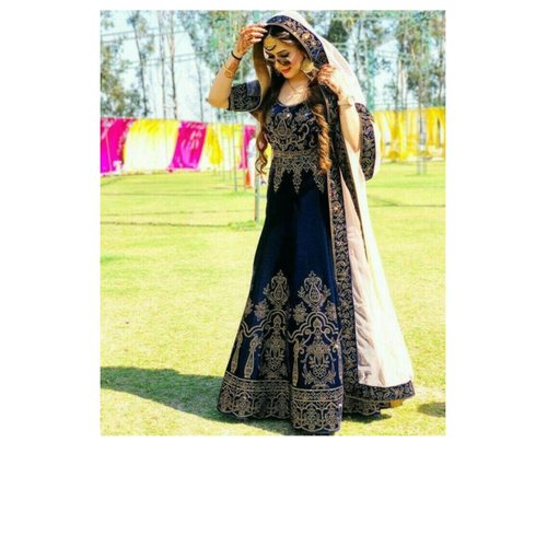Queen's Women's & Girls Tapeta Silk Lehenga Choli With Embroidery Work