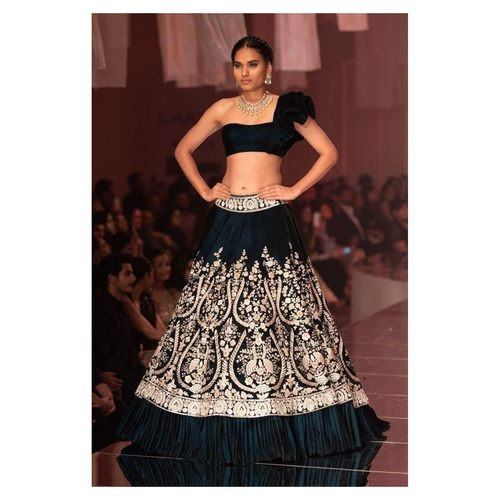 Designer Heavy Japan Taffeta Embroidered Lehenga Choli