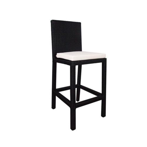 4 Chair Bar Set, White Cushion
