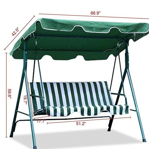 3 Seater Cushioned Patio Swing