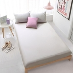3PC Solid Colour Fitted Bedsheet Set (Light Grey)