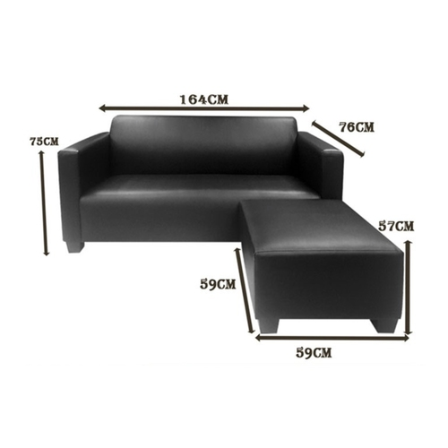 3 Seater Sofa + 1 Stool