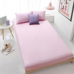 3PC Solid Colour Fitted Bedsheet Set (Light Pink)
