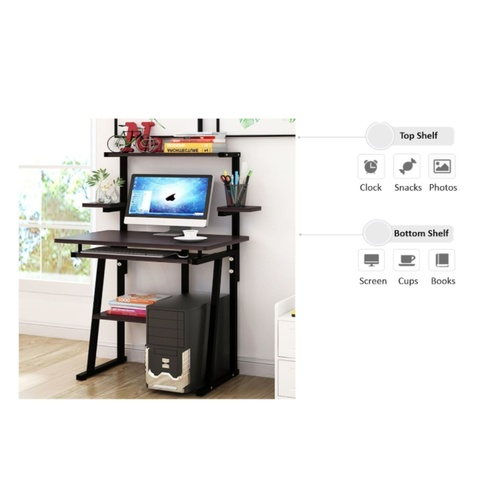 Compact Valuable Computer Table With Keyboard Drawer