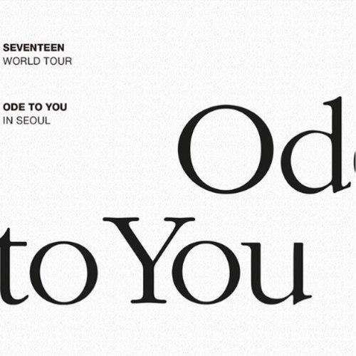 Seventeen SEVENTEEN WORLD TOUR ODE TO YOU IN SEO