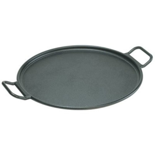 Cast Iron Pizza Pan, Black, 14-inch - Village Factory
