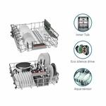 Bosch 12 Place Settings Dishwasher (SMS66GW01I, White)