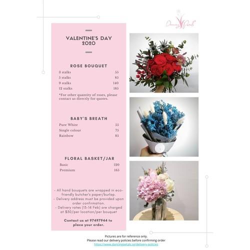 Floral Basket /Jar